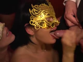 German Masquerade Swingers Party