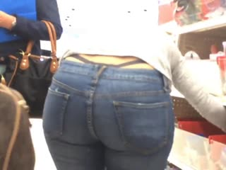 String milf in jeans (show me that thong)